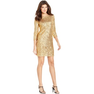 Anne Klein Sequin Shift Dress