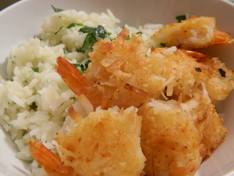 Coconut Shrimp & Cilantro Lime Rice