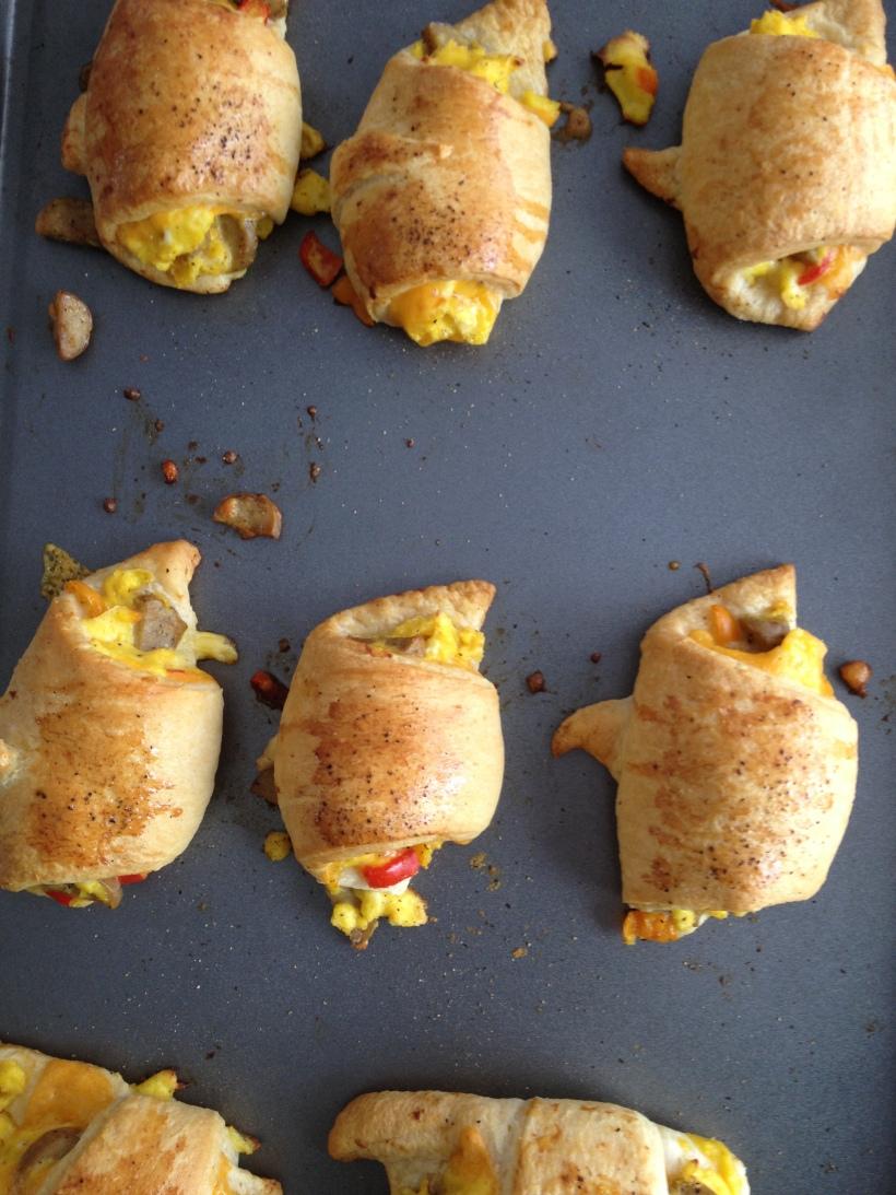 Chicken-Sausage Egg Crescents