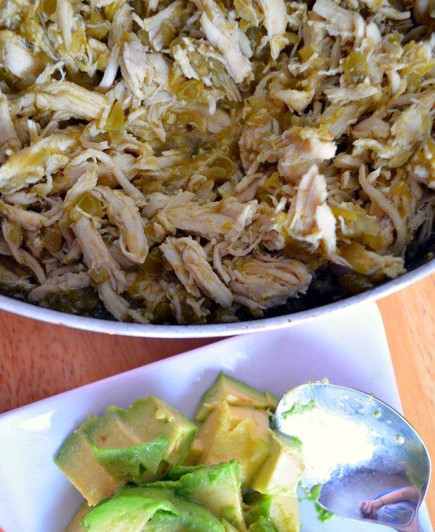 Salsa Verde Shredded Chicken Tacos