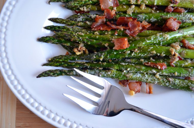 Roasted Asparagus with Bacon