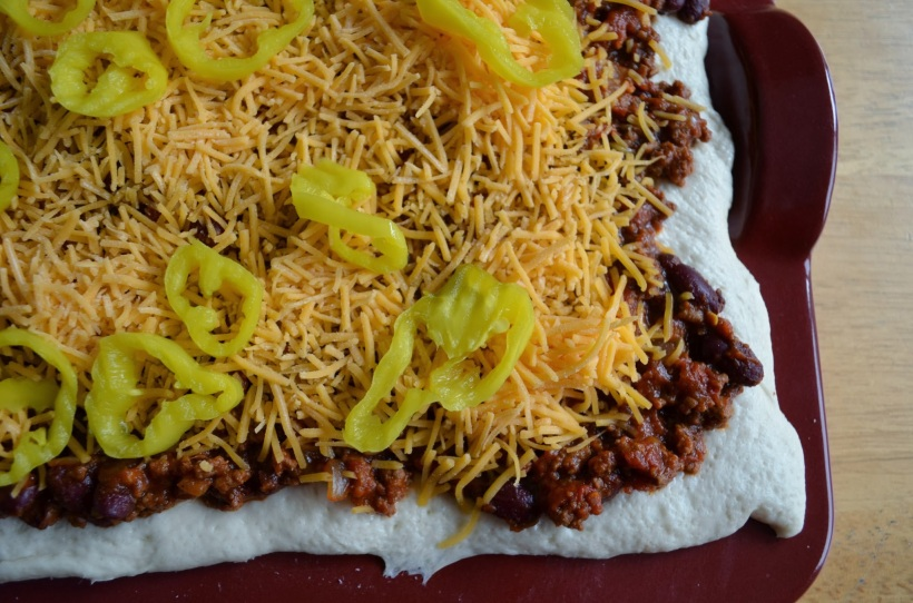 Hearty Chili Pizza